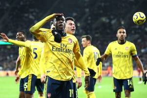arsenal player ratings: gabriel martinelli and nicolas pepe show the way out of gunners crisis