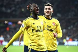 'saving us from relegation!' - arsenal fans go crazy for what nicolas pepe did against west ham