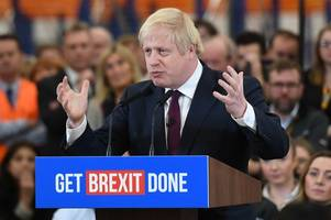 general election: boris johnson rides jcb digger and vows to break brexit deadlock on staffordshire visit