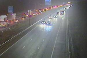 live updates as two accidents on the m4 at newport cause morning delays
