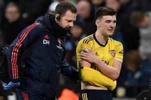 kieran tierney set for three month arsenal injury layoff with shoulder problem