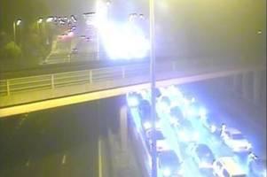m5 traffic held after multi-vehicle crash - latest updates