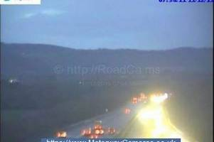 m5 traffic live: all traffic held as 'several vehicles' crash on motorway