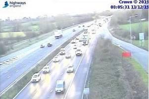m5 traffic: five-mile tailbacks and huge delays after multi-vehicle crash
