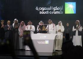 saudi aramco shares soar as it becomes world's largest listed company