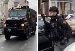 jersey city turns into a war zone as police exchange fire with black israelites