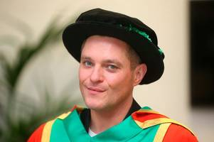 gavin and stacey's mathew horne graduates in nottingham 19 years after finishing degree