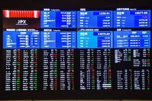 asian shares mixed as fed leaves rates unchanged