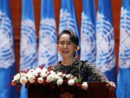 aung suu kyi slammed for 'silence' over myanmar genocide claims at un court