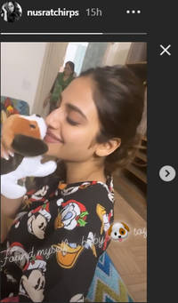 nusrat jahan says she has found herself a 'baby toy' and it's adorable