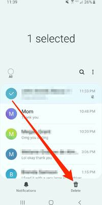you can't leave a group text on android, but you can mute or delete it — here's how