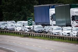 live updates as accident causes severe delays on the a50