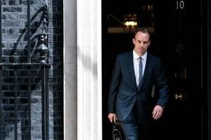 foreign secretary dominic raab retains esher and walton seat despite lib-dems rally