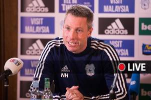 cardiff city press conference live updates as neil harris talks huge leeds united clash, injury news and transfers
