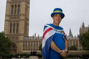 what the man who shouts 'no brexit' from a megaphone outside the houses of parliament will do now