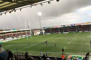 freak hail storm hits exeter forcing chiefs players to leave pitch - live updates