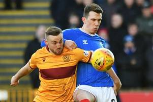 Motherwell 0, Rangers 2: Ten-man Rangers win comfortably at Motherwell