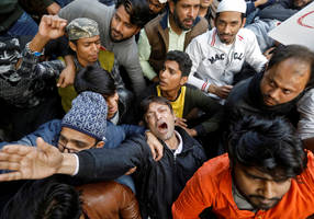 100 activists injured in new delhi during protest over citizenship law