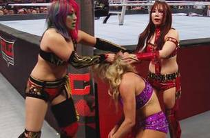 WWE Women's Tag Team Champions The Kabuki Warriors def. Raw Women's Champion Becky Lynch & Charlotte Flair (Tables, Ladders & Chairs Match)