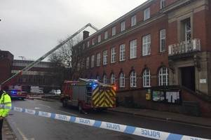 Live updates: Fire breaks out at Nuneaton town hall near Ropewalk shopping centre