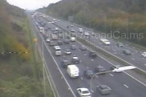 crash causes two miles of queuing traffic on m5 - live updates