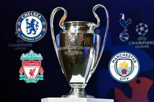 champions league draw live: spurs, chelsea, liverpool and man city await round of 16 ties