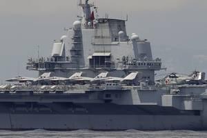 china's new aircraft carrier enters service at south china sea base