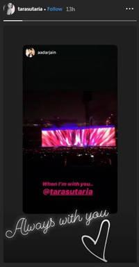 tara sutaria and aadar jain make it 'instagram official;' see post