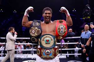 anthony joshua admits he wants andy ruiz trilogy fight after winning titles back
