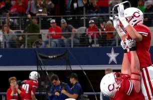highlights: mason courtney td for carthage ties game 7-0 vs la vega | uil state championships