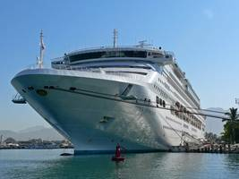six injured as giant cruise ships collide off mexico