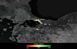 dazzling nasa images from space show how holiday lights brighten the night across the globe