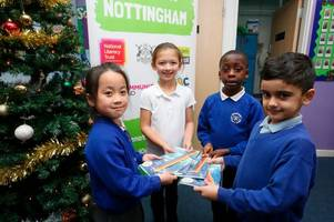 campaign to give the 'gift of reading' to children in nottingham this christmas