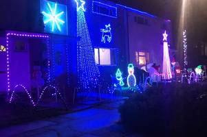 man's 'crazy' outdoor christmas decorations raising thousands for charity