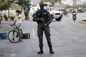 attackers hit venezuela military post, one soldier killed