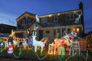 christmas lights display at sutton coldfield home named 'best in country'