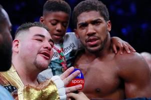 anthony joshua urged to scrap andy ruiz trilogy fight by coach angel fernandez