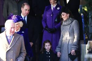 prince george and princess charlotte join royal family christmas day service
