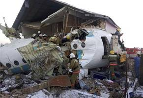 airplane crashes in kazakhstan with 100 people on board