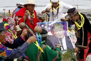 peruvian shamans predict donald trump won't be re-elected during ritual
