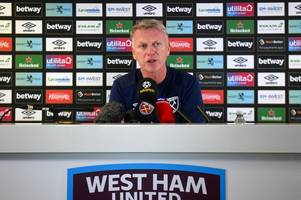 just like old times for david moyes as west ham boss is introduced to the media - again
