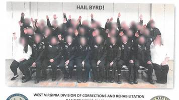west virginia gov. approves firing all cadets in nazi salute photo