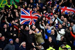 rangers fan hit by coin and 'knocked unconscious' following win over celtic