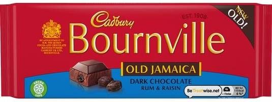 cadbury's to bring back the classic 1970s old jamaican rum and raisin under the bournville brand