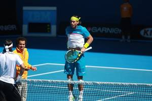 nadal and djokovic star as spain and serbia make winning starts at atp cup