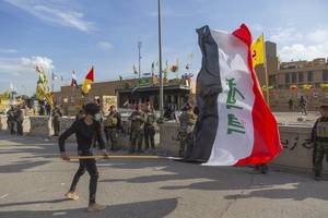 rockets explode near us embassy in baghdad after suleimani mourners shout 'death to america'