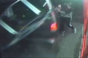 shocking video of out-of-control van slamming dover man against takeaway window