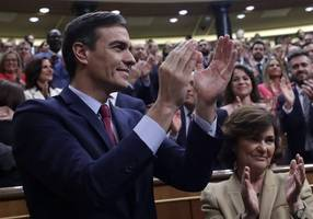 pedro sanchez wins cliff-hanger vote to form new spanish government