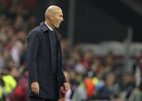 'we're not here for a walk', zidane says of super cup