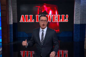 colbert initiates emergency protocols after trump announces 'all is well' with iran (video)